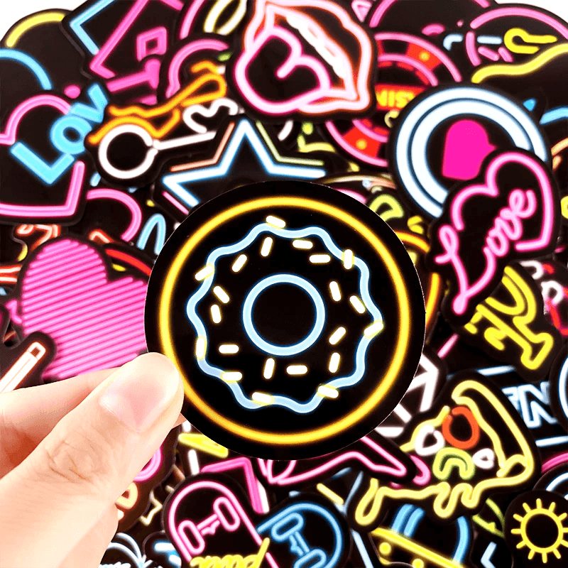Neon Light Mix Stickers