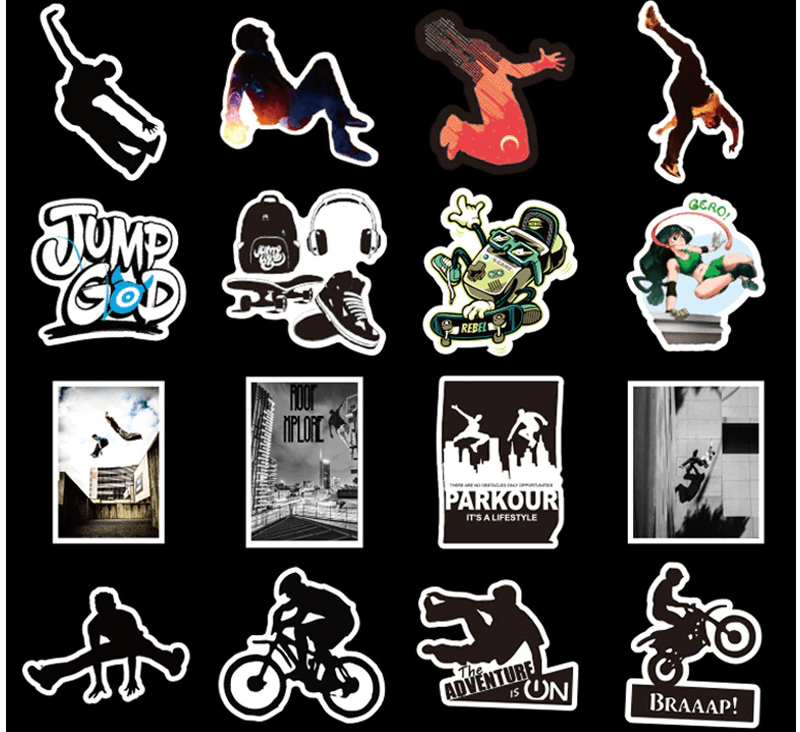 Parkour Stickers