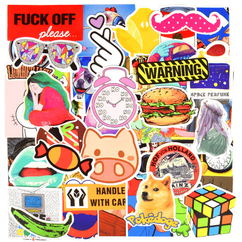 Set Random Stickers