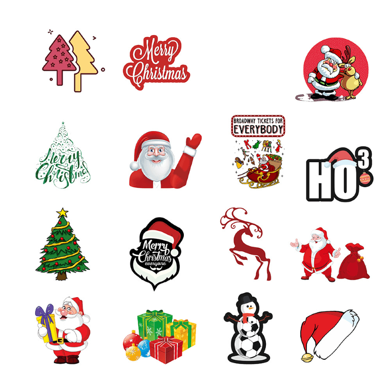 Merry Christmas & Happy New Year Stickers