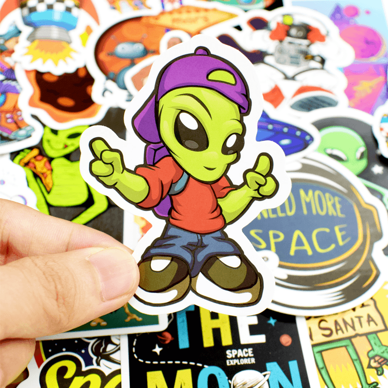 Alien UFO Stickers