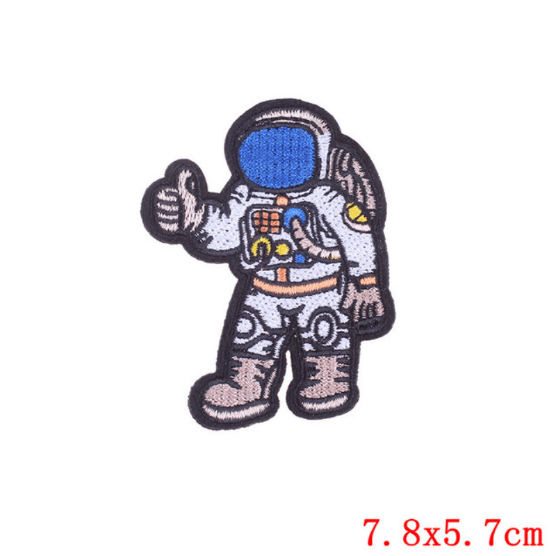 Astronaut Space Fabric Stickers
