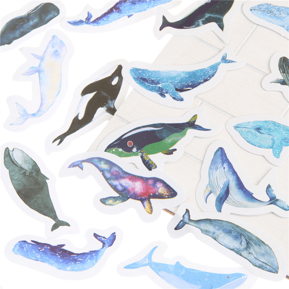 Blue Whales Stickers