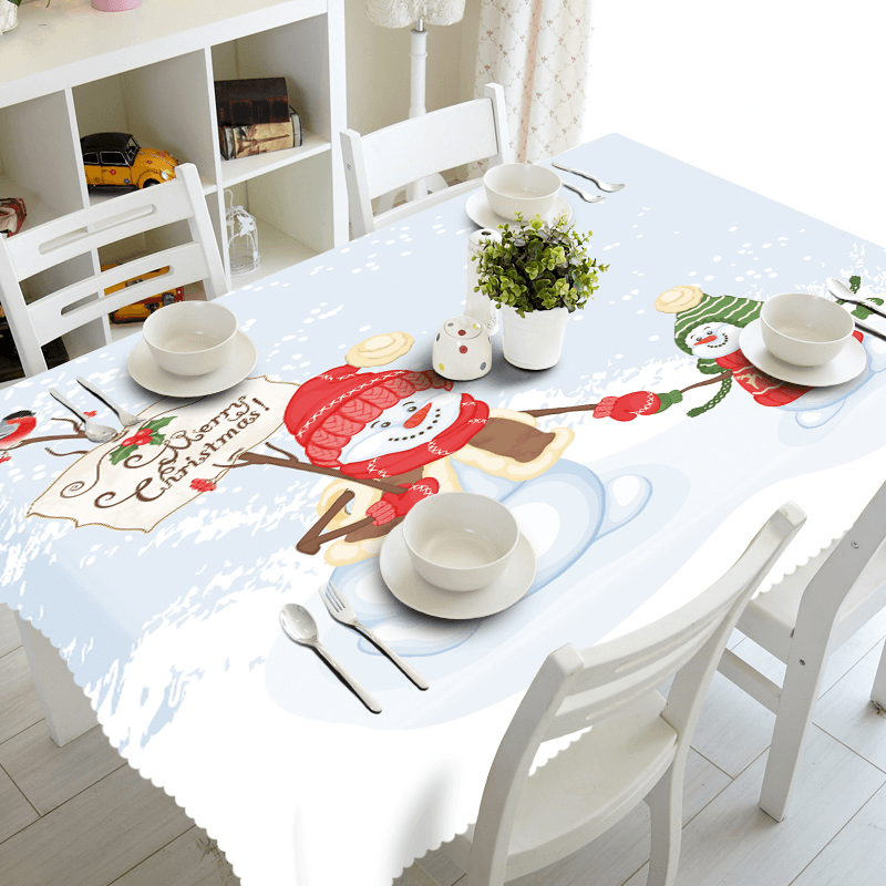 Christmas Snowman Tablecloth
