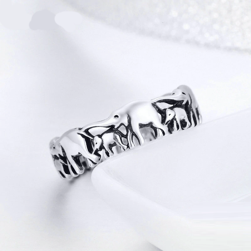 Elephant 925 Sterling Silver Ring