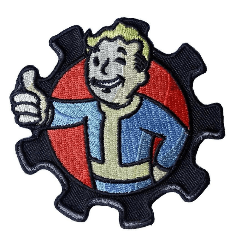 Fallout Vault Boy Fabric Sticker