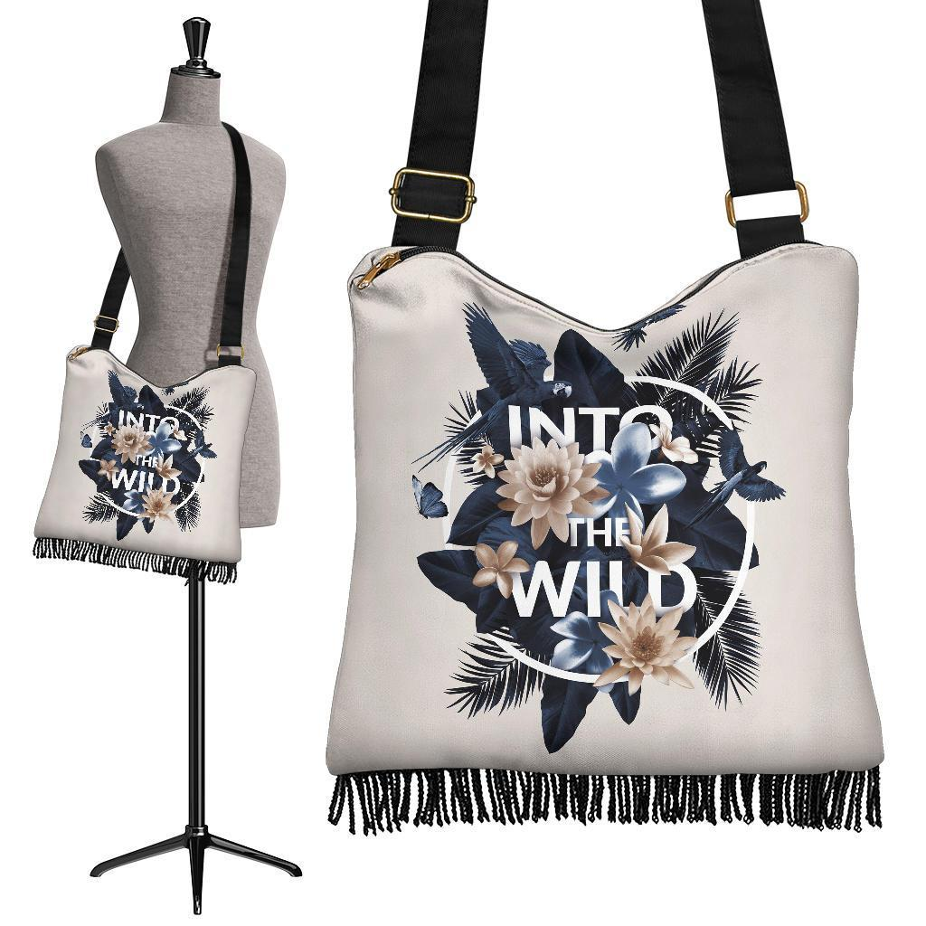 Flower Typography Into The Wild Handbag
