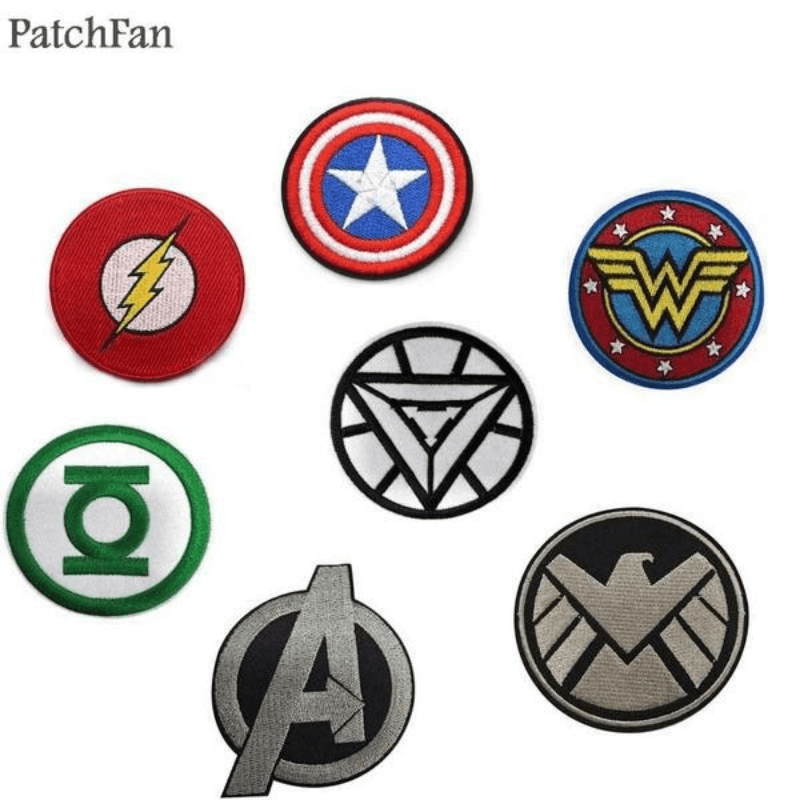 Marvel Logos Fabric Stickers