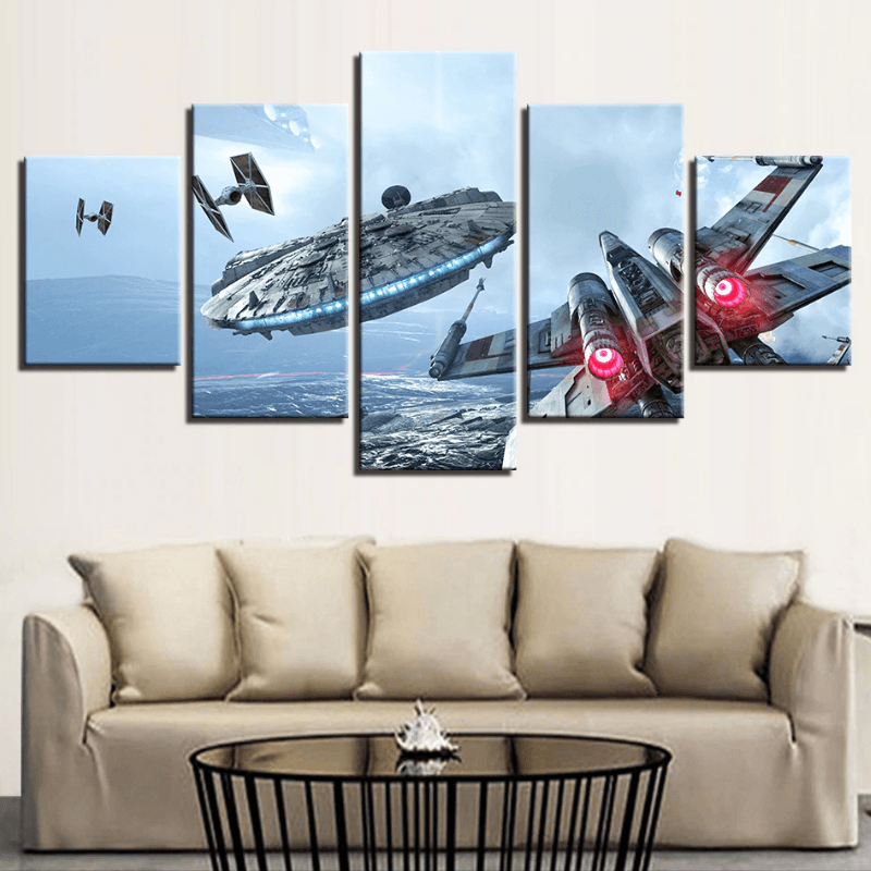 Millennium Falcon 5 Pcs Canvas