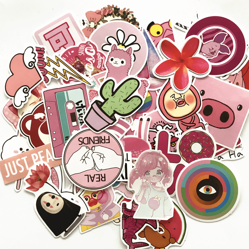 Pink Style Stickers