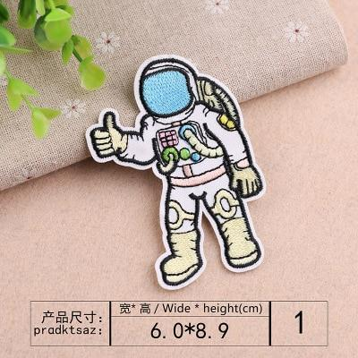UFO Astronaut Fabric Stickers