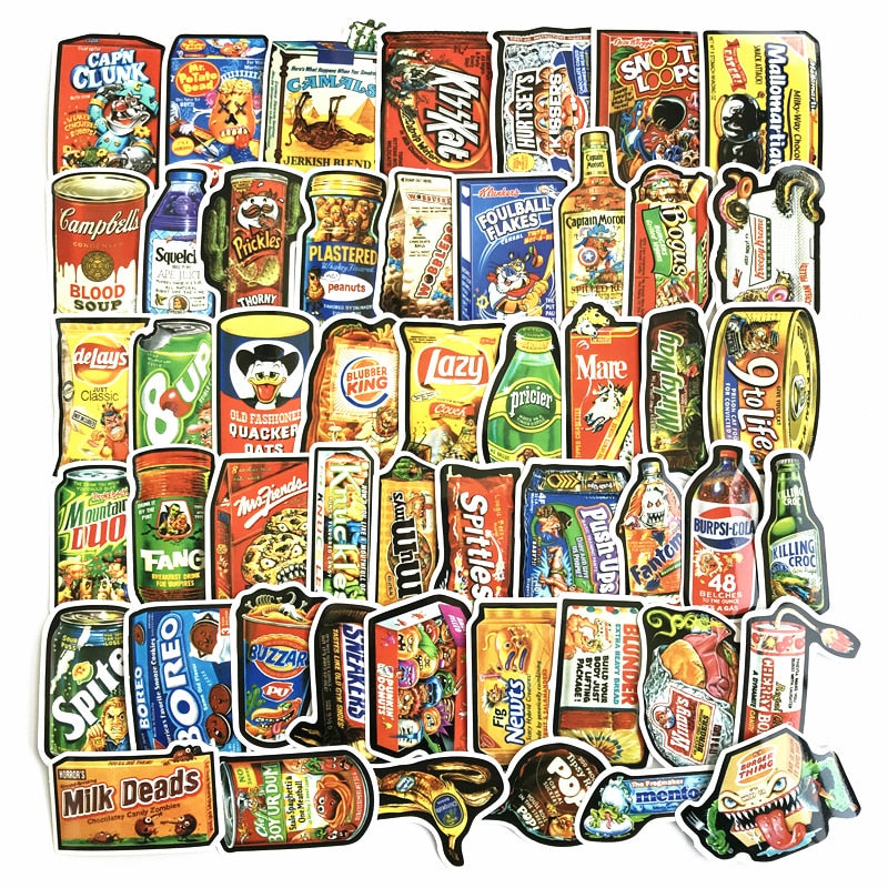 Snack Food Stickers