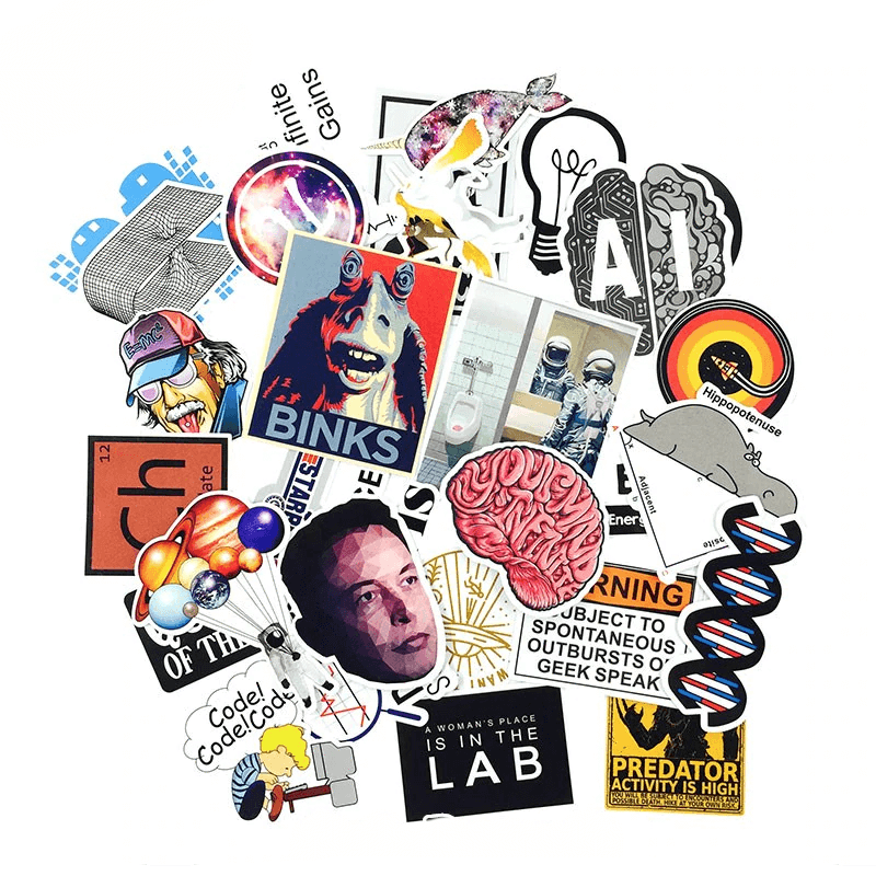 Science Chemistry Lab Stickers Set 30 Pcs