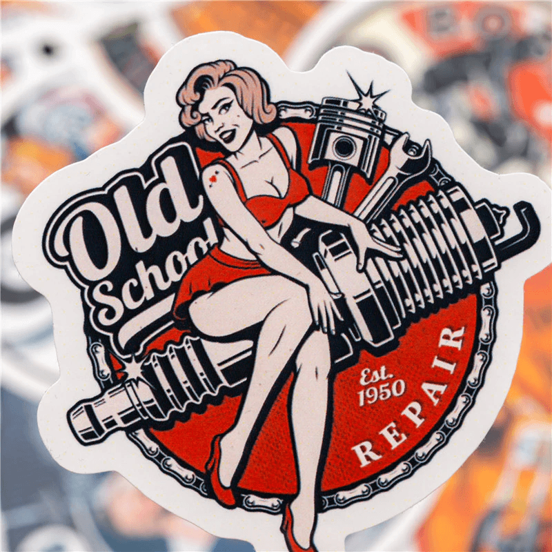 Sexy Motorcycle Girl Stickers