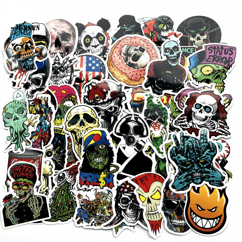 Skull Horror Stickers