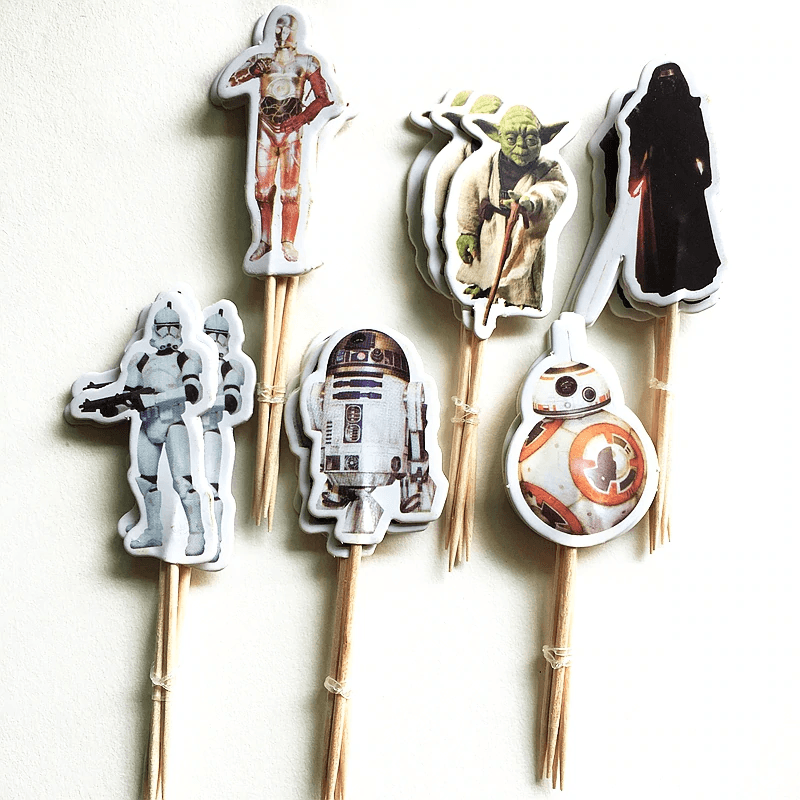 Star Wars Cupcake Pick Set 24 Pcs