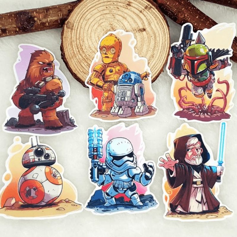 Star Wars & Famous Movie Characters Stickers