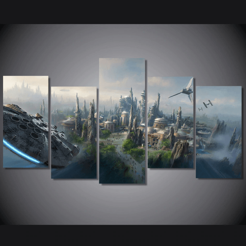 Star Wars Galaxy's Edge 5 Pcs Canvas