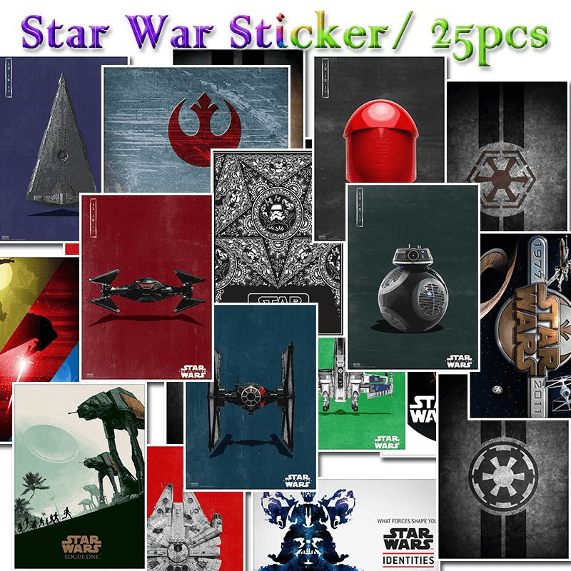 Star Wars Spacecraft Stickers