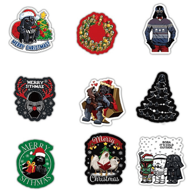 Star Wars Xmas Stickers