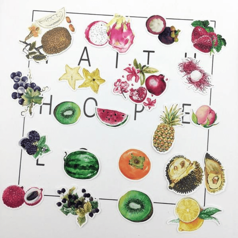 Tropical Fruits Stickers