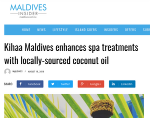 AUGUST 16, 2019 - Feature in MALDIVES INSIDER