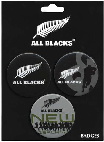 All Blacks Badges 3 Pack - Traditional