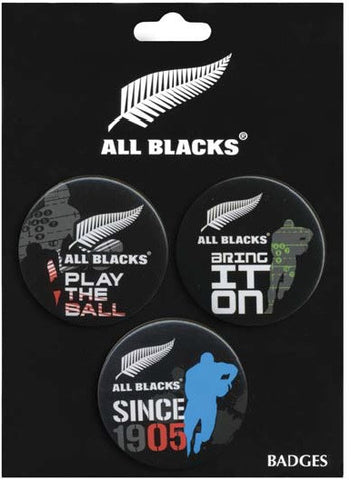 All Blacks Badges 3 Pack - Colourful