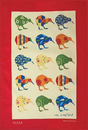 Kiwi Appliqué Tea Towel