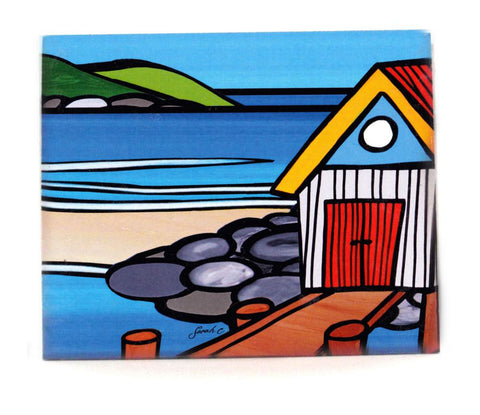 Sarah C Art Block : Boat Shed on the Rocks