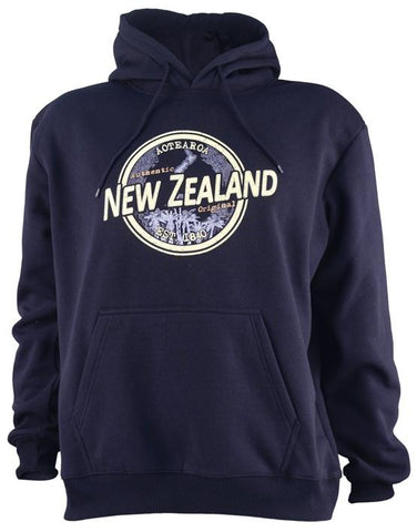 NZ Seal Unisex Fleece Hoodie Navy Blue