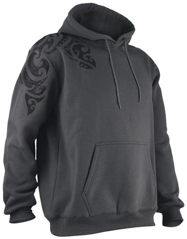Tattoo Design Hoodie in Charcoal