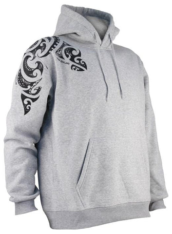 Tattoo Design Hoodie in Grey