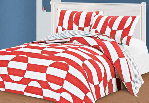 Illusion Red Duvet Set