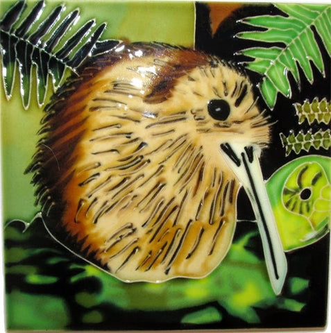 Ceramic Tile : Brown Kiwi