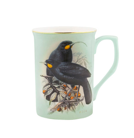 Huia Bird of NZ Ceramic Mug