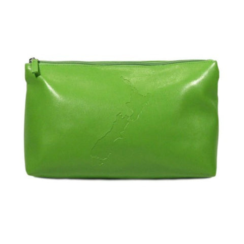 Kiwi Icons Toiletry Bag - Green NZ Map