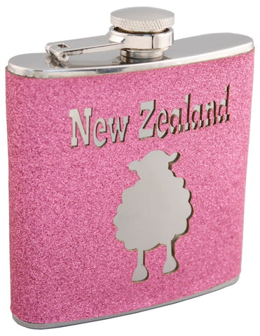 Sheep Glitter Hip Flask