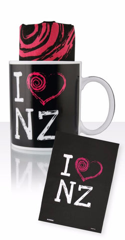 I heart NZ Ceramic Mug & Tea Towel
