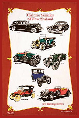 Historic Vehicles Tea Towel