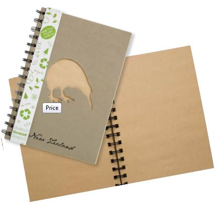 Kiwi Recycled Notebook