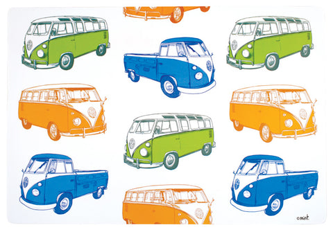 Retro Combi Van Placemats: Set of Four