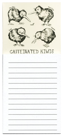 Caffeinated Kiwi Magnetic Notepad