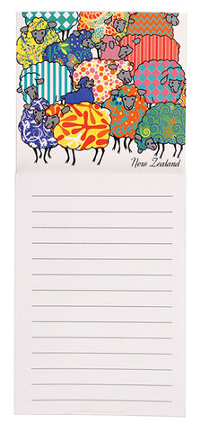 Psychedelic Sheep Magnetic Notepad