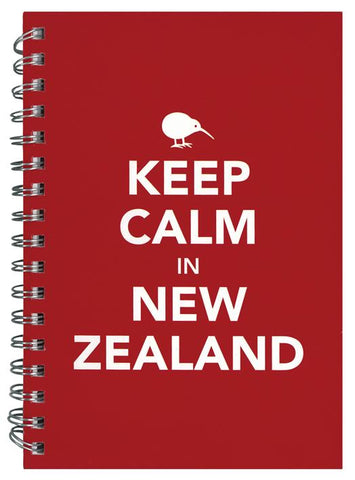 Keep Calm in New Zealand Spiral Notebook