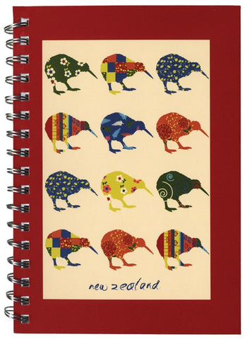 Kiwi Appliqué Spiral Notebooks