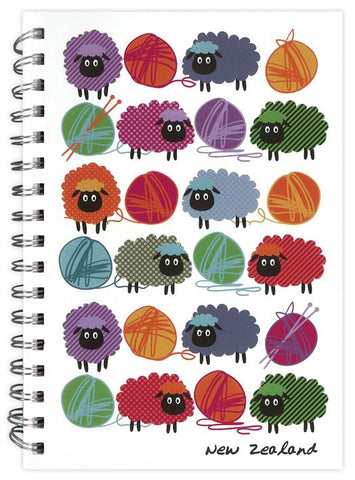 Woolly Brights Spiral Notebook