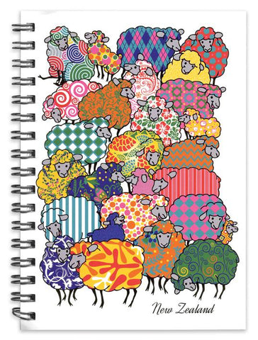 Psychedelic Sheep Spiral Notebook