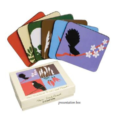 NZ Birds & Plant Coaster Set