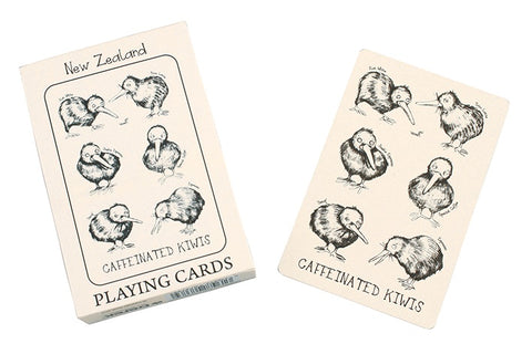 Caffeinated Kiwis Playing Cards